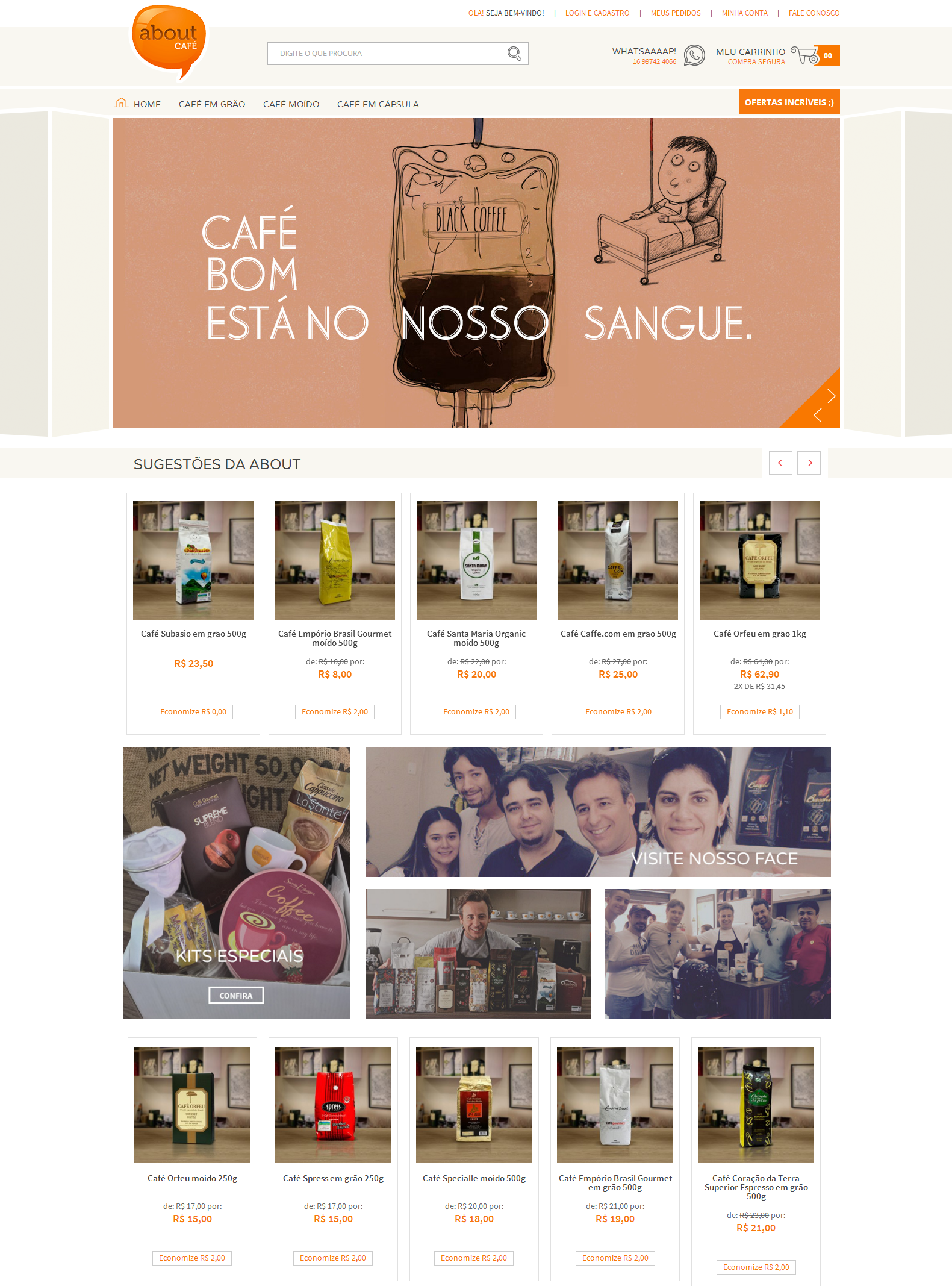 Loja Virtual da About Café