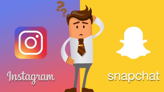O que utilizar: Instagram ou Snapchat?